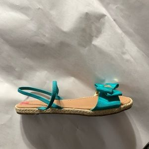 NWT authentic KATE SPADE size 7 turquoise cloth